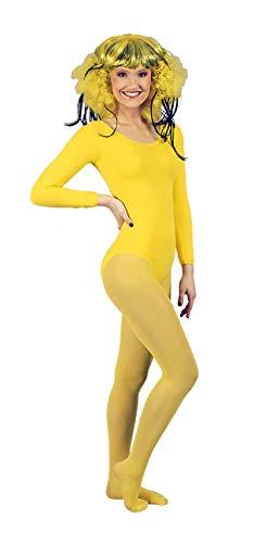 K842507-L-XL gelb Damen Profi Strumpfhose Nylon 70 Den Blickdicht Tanz Sport Garde Kostüm Gr.L-XL