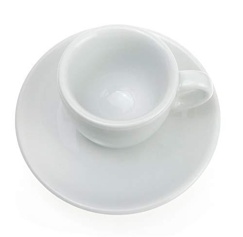 Extra dickwandige italienische Espressotasse »Verona« (0,85 cm Tassenwand / 75 ml), handgemacht (1 Tasse & Untertasse) / Made in Italy - 6
