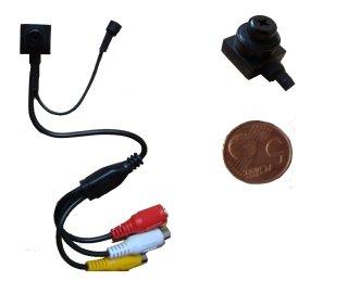 Microcamera/Micro camera/Telecamera CCD a colori con microfono 'Pin Hole