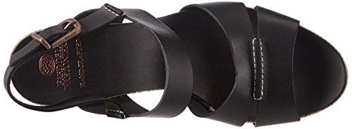 Fred De La Bretonnière Fred Double Front Strap Rope Sandalet 9.5cm Heel Leather Sole Lloret, Sandales ouvertes femme Noir - Noir