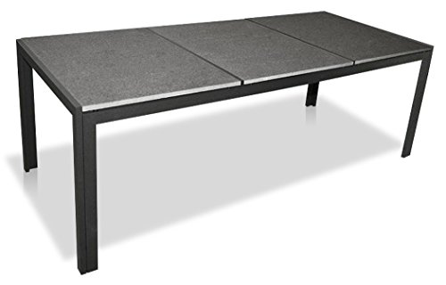 """KMH®, Gartentisch """"Jeffry"""" mit 3 massiven Granitplatten! (208 x 90) (#103022)"""
