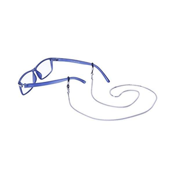 LEORX Acero inoxidable gafas de sol gafas gafas cadena soporte cuello 2