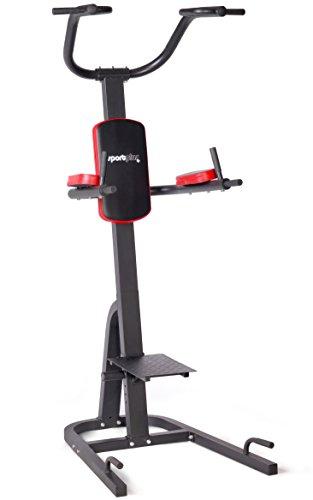 SportPlus Multi Gym Pull up e Push Up Bar, Stazione Fitness Grips Dip Pieghevole Multifunzionale per Casa, Numerose Modalità di Allenamento, Power Tower, Sicurezza Testata