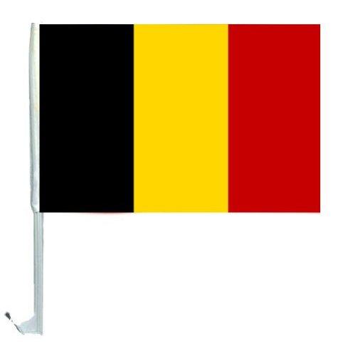 1 x Autofahne Autoflagge 45 x 30 Belgien Auto Fahne Fahnen Flagge Flaggen EM 2016 mit Halterung