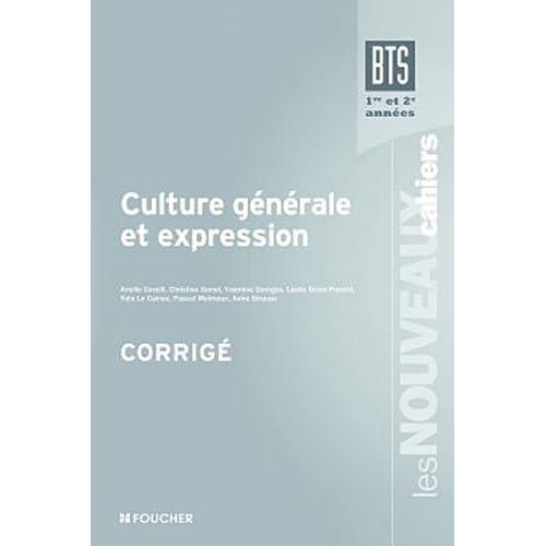 Culture générale et expression BTS Corrigé