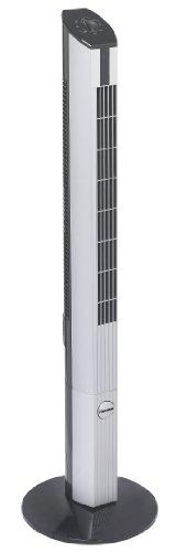 Bestron Design-Turmventilator mit Schwenkfunktion, Höhe: 107 cm, 50 W, Schwarz/Grau