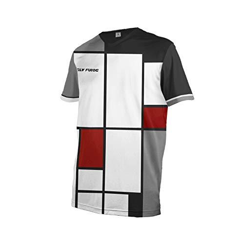 Uglyfrog Herren Downhill Jersey, MTB Männer T-Shirt, Mountainbike/Motocross Herren Langarm/Kurze Ärmel Fahrrad Trikot T Shirt Radtrikot Cycling Jersey für Radsport DEHerDownSW04 -