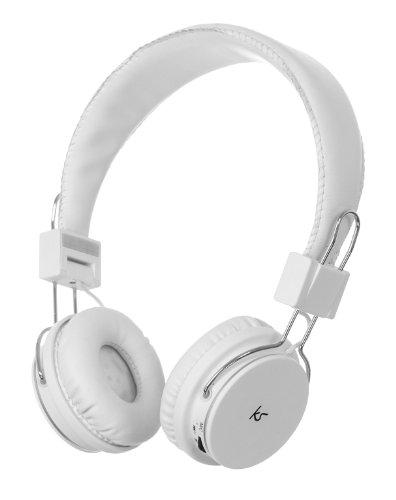 KitSound Manhattan Casque/Ecouteurs Audio Bluetooth avec Micro Compatible avec Smartphones, Tablettes et Lecteurs MP3 iPhone 4/4S/5/5S/5C/6/6 Plus, iPad 2/3/4/Air/Mini, iPod Nano 7, iPod Touch 5, Samsung Galaxy S2/S3/S4/S5, Galaxy Note 2/3, Galaxy Tab 2/3/4, Xperia Z1/Z2, HTC One/One M8 et Google Nexus 5/7/10 - Blanc