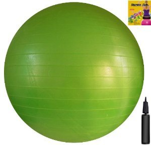 fitness-ball-green-26in-65cm-diameter-includes-1-ball-1-pump-1-page-instruction-chart-no-instruction