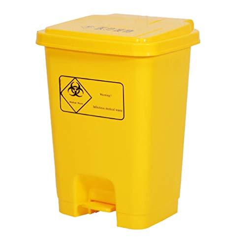 XYW-Trash can CXX Pedal De Basura De PláStico con Tapa Fuerte Y Duradero Desodorante Antienvejecimiento...