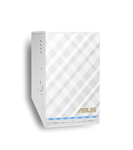 Asus RP-AC52 Ripetitore Wireless Dual Band AC750, Access Point con Music Streamer Integrato, Bianco