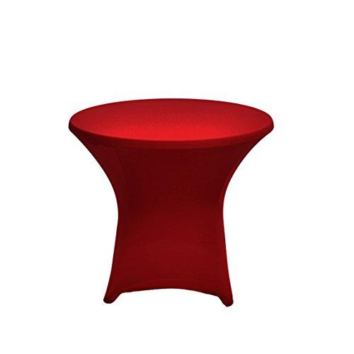 Cover Up Tavolino basso elasticizzato, con Top, Poliestere, bordeaux, 80-85cm di diametro