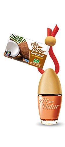 Preisvergleich Produktbild 5 Stück stylische Air Natur Duftflakons fürs Auto und Zuhause Autoduft Raumduft Lufterfrischer Coconut - Kokosnuss
