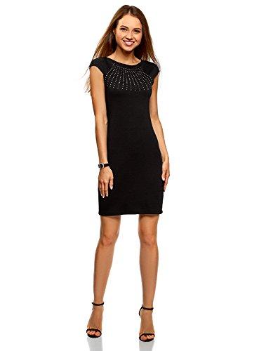 liegendes Kleid mit Strasssteinen, Schwarz, DE 38 / EU 40 / M (Bis Kleider)