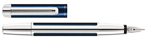 """Pelikan stylo plume """"Pura 40"""", couleur: bleu / argent largeur de plume:M,corps et capuchon en aluminium inoxydablesysteme de recharge a cartouches, plume en acier inoxydable (954909 / P40)"""