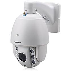 FLOUREON SD37W 1080P Wlan Dome IP Kamera Überwachungskamera ONVIF PTZ 4X ZOOM P2P H.264 IR-CUT 2.8-12mm 6 Infrarot LED Nachtsicht CCTV Sicherheitskamera Wasserdicht IP Cam Email Alarm
