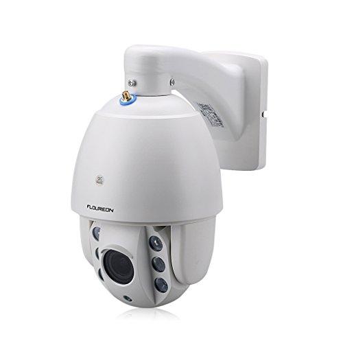 FLOUREON IP Kamera WLAN Dome Überwachungskamera PTZ Außenkamera, 1080P 5X Zoom, P2P, IR-Cut Nachtsicht, Wasserdicht, Email Alarm, unterstützt Micro SD Karte Ptz-kamera