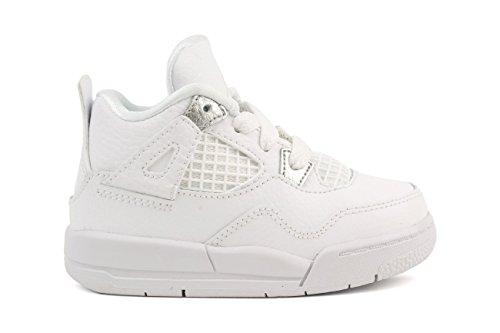 Jordan Retro 4Toddler Schuhe, Herren, Weiß / Schwarz / Rot (Jordan Retro 4 Schwarz Und Weiß)