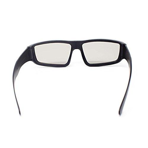 2 Paare von Universal Passive 3D-Brille für alle Kino- und hohe Qualität in der Farbe schwarz
