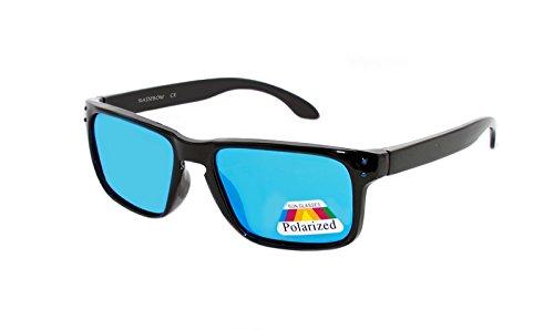 rainbow safety Kinder Sonnenbrille Polarisiert 5+ Jahre UV400 Schutz 3301 Schwarz verspiegelt Blau