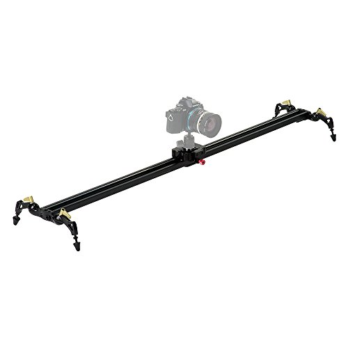 Fotodiox Pro SlideCam 1000 - 39 Video Slider Stabilizer Rail with Ball-Bearing Slide Adjustable Legs & Case