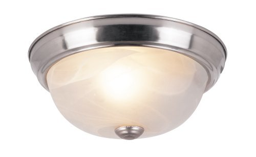 Trans Globe Lighting 14011 BN 1-Light Flush-Mount, 3-Pack, Brushed Nickel by Trans Globe Lighting -