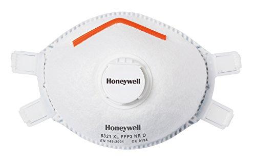 Honeywell 1005602Premium 5321Einweg Verstellbare geformte Maske mit Ventil und Facial Dichtung FFP3V NR D–Gr. M/L (Box von 5) (Sicherheits-maske Sauerstoff)
