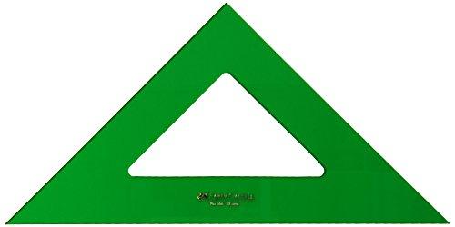 Faber-Castell 566-28 - Escuadra técnico para uso escolar y profesional sin graduar, 28 cm, color verde