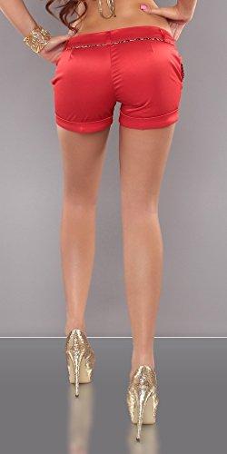 KouCla Hotpants mit Leonaht Rot