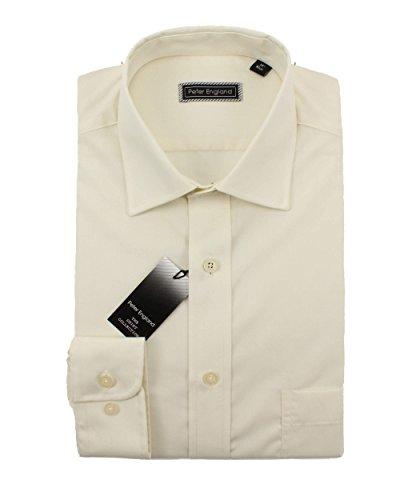 Peter England -  Camicia classiche  - Uomo Ecru