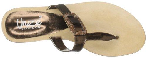 Pantoufles De Soirée Unze, Sandales Pour Femmes Brown (braun (l18266w))