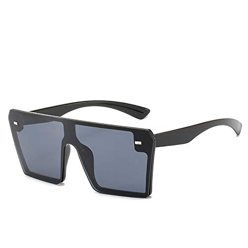 QYEND Herren Polarized Sonnenbrille Übergroße quadratische Sonnenbrille Herren Glas Sonnenbrille UV400,A