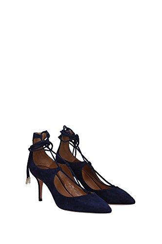 CHRMIDP0SUE080INK Aquazzura Sandale Femme Chamois Bleu Bleu