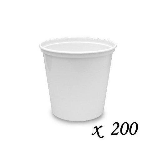 200Berry Kunststoffe Kunststoff Lager Teil Tassen-weiß-2oz