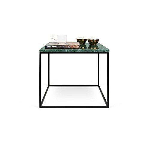Paris Prix - Temahome - Table Basse Gleam 50cm Marbre Vert & Métal Noir