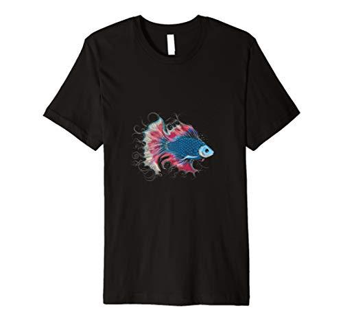 farbenfrohes Kampffisch T-Shirt und einzigartiges Geschenk