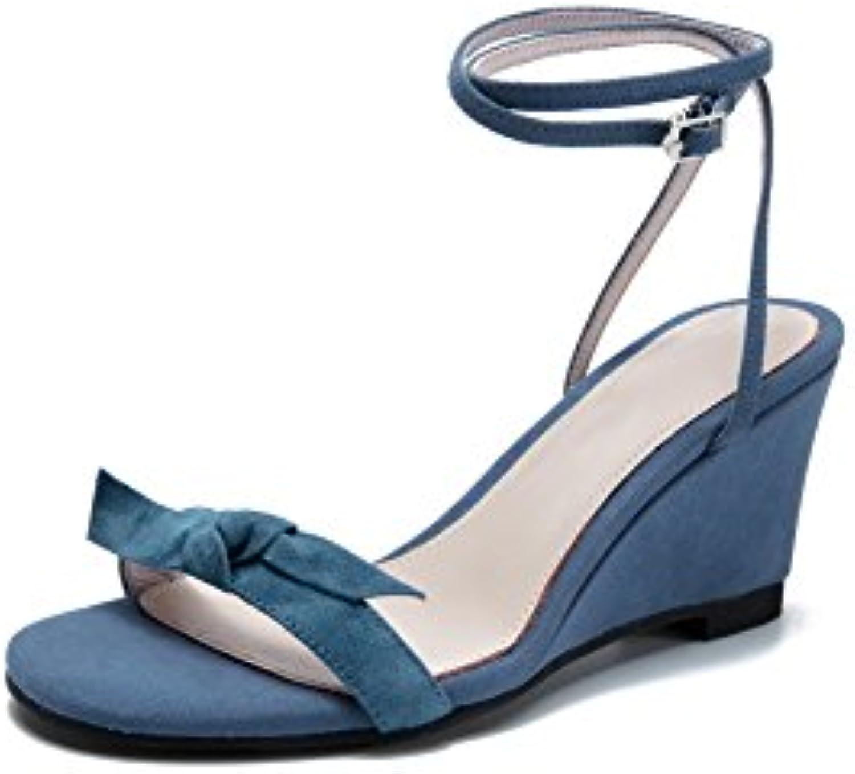 AdeeSu Ballerine Donna, Blu Blu Blu (blu), 35 EU | Abile Fabbricazione  0e25ed