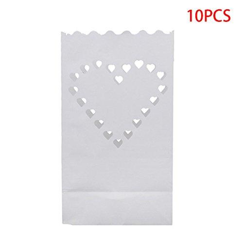 puck230Lichttüten Candle Bag Papier Laterne, 100Taschen, Romantische Dekorative Licht für Hochzeit Geburtstag Party, Wie Abgebildet, Love Heart