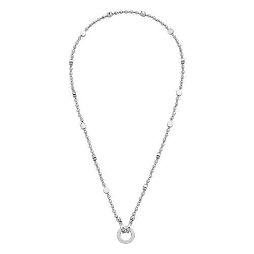 JEWELS BY LEONARDO DARLIN\'S Damen-Halskette Perugia, Edelstahl mit runden und flachen Edelstahlperlen, CLIP & MIX System, Länge 450 mm, 016647
