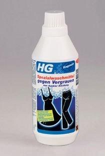 HG Spezialwaschmittel gegen Vergrauen von dunkler Kleidung