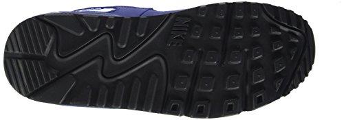 Nike Air Max 90 Prem Mesh (GS), Baskets Basses Garçon Blau (Tiefes Königsblau/Helles Karmesinrot/Schwarz/Weiß 401)