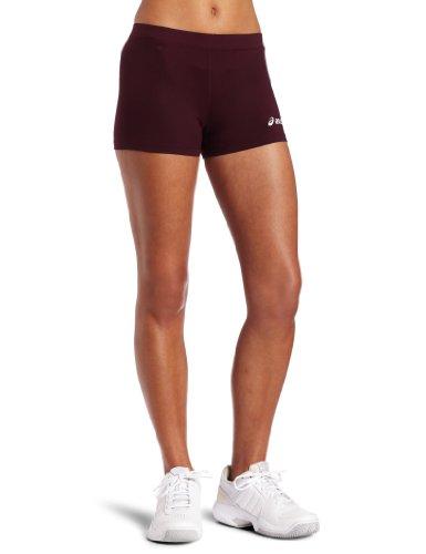 ASICS Women's Low Cut Short, Maroon, Medium (Spandex Volleyball Asics)