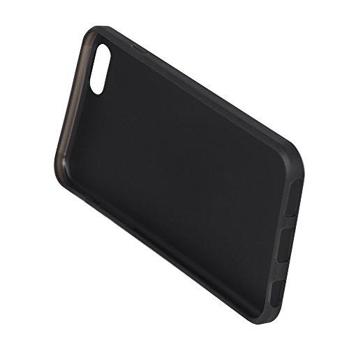 OKCS Case für Apple iPhone 6, 6s Hülle Schutzhülle TPU in Aluminium Optik Tasche Cover Protector - in Silber Silber