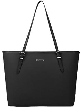 ECOSUSI Damen Shopper Schultertaschen mit Schlüsselanhänger Arbeit Handtaschen