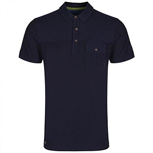 Regatta Mens Bleeker Coolweave Hybrid Cotton Polo Shirt Marineblau