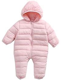 Classic Pink Neonato Bimbo Pagliaccetto Caldo Romper con Cappuccio Zip Up  Baby Tutina Attrezzatura bb3bfacd430