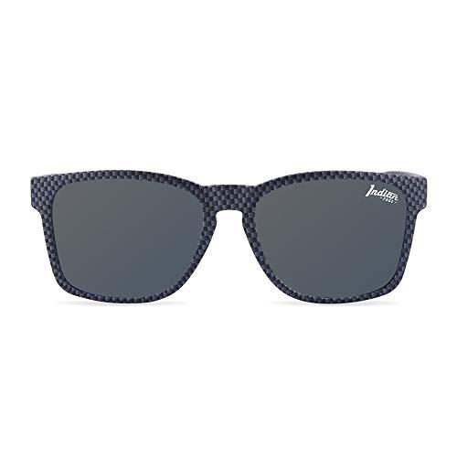 The Indian Face Unisex-Erwachsene Free Spirit Carbon Fiber Sonnenbrille, Schwarz, 55