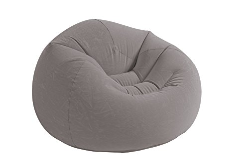 Intex Sillón hinchable beanless 107 x 104 x 69 cm, gris (68579)