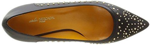 Atelier Mercadal5380 - Scarpe con Tacco Donna Nero (Noir (Linch Nero/Clous))
