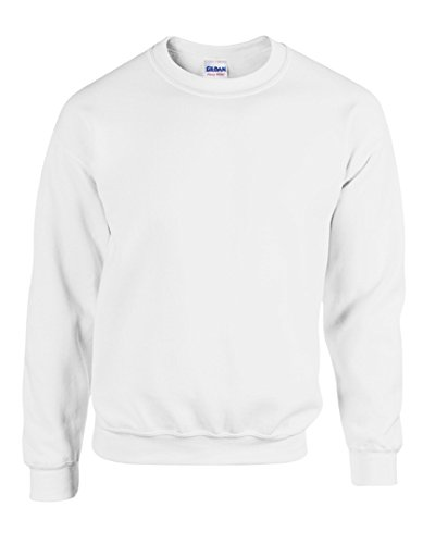 Gildan Herren Sweatshirt Heavy Blend 18000 White L